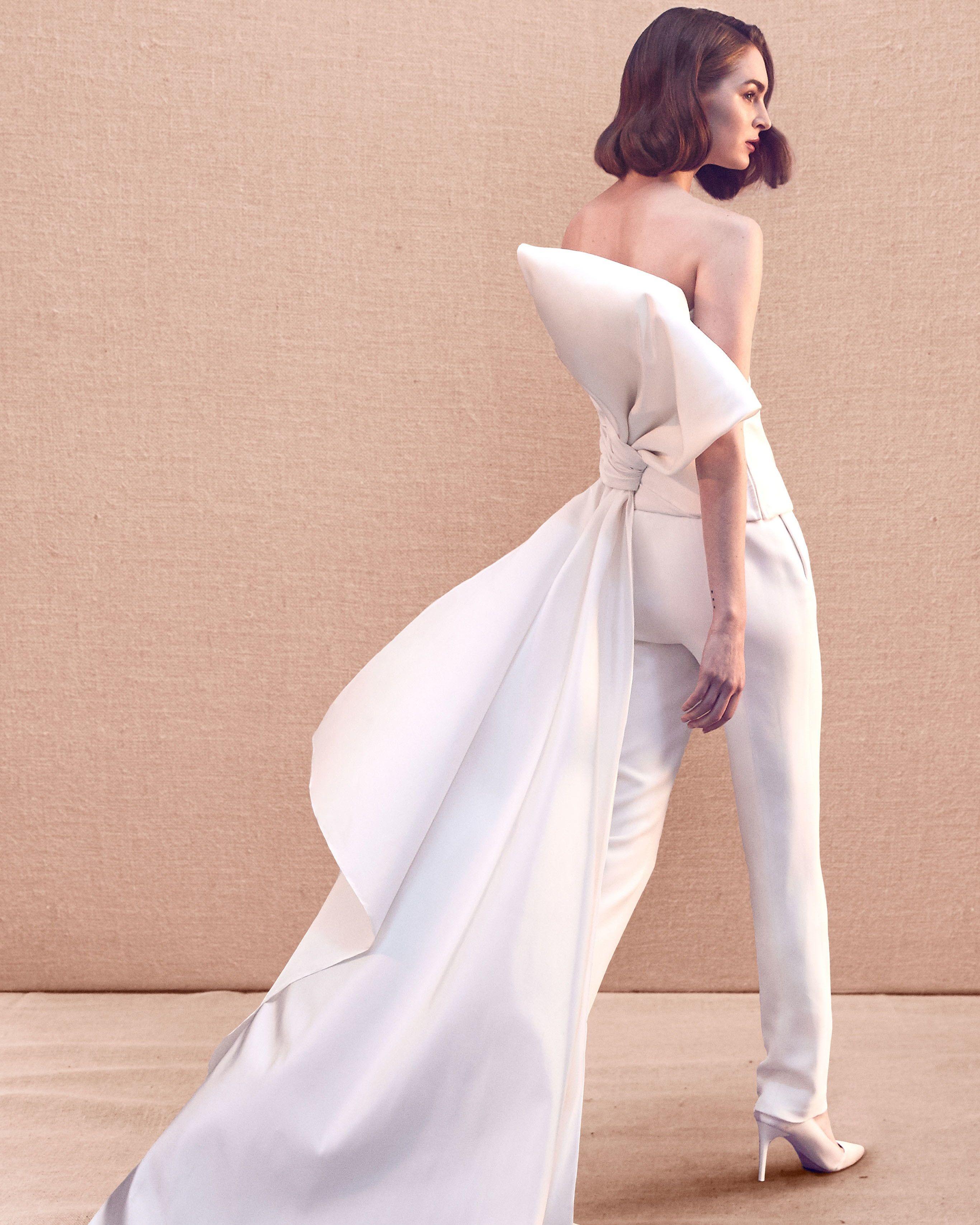 check-out 8da6a fcff1 Trend 2020: l'abito da sposa con i pantaloni - Wedding ...